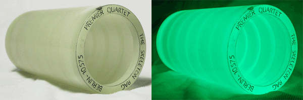 The cylinder record that glows in the Dark